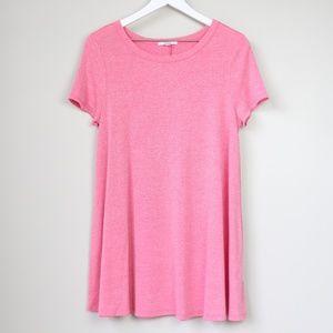 Acemi Scoop Neck Short Sleeve T-Shirt Dress